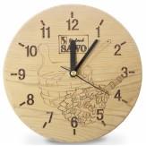 Часы для бани и сауны Sawo 532-Х термообработанная древесина (устанавливаются в предбаннике)