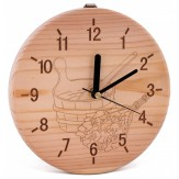 Часы для бани и сауны Sawo 532-Р сосна (устанавливаются в предбаннике)