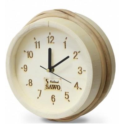 Часы для бани и сауны Sawo 530-А, осина (устанавливаются в предбанике)