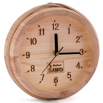 Часы для бани и сауны Sawo 531-Р в корпусе из сосны (устанавливаются в предбаннике)