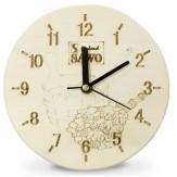 Часы для бани и сауны Sawo 532-А, осина (устанавливаются в предбаннике)