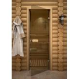 Дверь для сауны АКМА Linden Бронза 590х1790 липа
