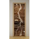 Стеклянная дверь для бани и сауны Aldo ДСМ Молния 690х1890мм