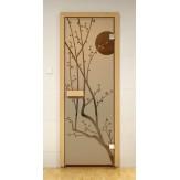 Стеклянная дверь для бани и сауны Aldo ДСФ Сакура 690x1890 бронза