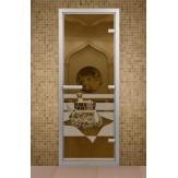Стеклянная дверь для турецкой бани ДТМ Банный день 690х1890