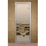 Стеклянная дверь  для турецкой бани Aldo ДТ Банный вечер 790х1990