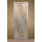 Стеклянная дверь для турецкой бани ДТФ Береза 690х1890