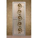 Стеклянная дверь для турецкой бани Aldo ДТ Чайный декор 690х1890