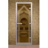 Стеклянная дверь для турецкой бани Aldo ДТМ Дастархан 690х1890