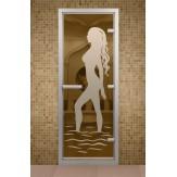 Стеклянная дверь для турецкой бани Aldo ДТМ Диана 790х1990