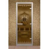 Стеклянная дверь для турецкой бани Aldo ДТМ Египет 690х1890