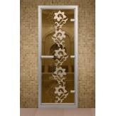 Стеклянная дверь для турецкой бани Aldo ДТМ Камелия 690х1890