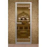 Стеклянная дверь для турецкой бани Aldo ДТМ Караван 690х1890