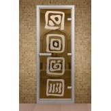 Стеклянная дверь для турецкой бани  ДТМ Лед 690х1890