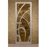 Стеклянная дверь для турецкой бани Aldo ДТМ Мокко 690х1890