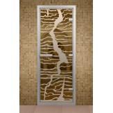 Стеклянная дверь для турецкой бани Aldo ДТМ Молния 690х1890
