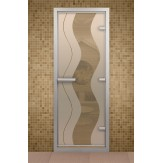 Стеклянная дверь для турецкой бани Aldo ДТ Муара 690х1890