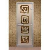 Стеклянная дверь для турецкой бани Aldo ДТ Оазис 790х1990