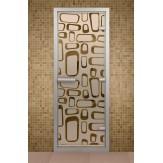 Стеклянная дверь для турецкой бани Aldo ДТ Поток 690х1890
