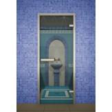 Стеклянная дверь для турецкой бани хамама Aldo ДТ Прозрачная 70х190