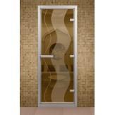 Стеклянная дверь для турецкой бани Aldo ДТМ Растр 790х1990