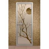 Стеклянная дверь для турецкой бани ДТФ Сакура  690х1890