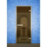 Стеклянная дверь для турецкой бани хамама Aldo ДТ Сатин 80х210