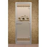 Стеклянная дверь для турецкой бани Aldo ДТ Шелковый путь 690х1890