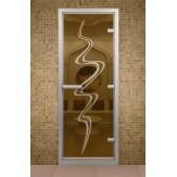 Стеклянная дверь для турецкой бани Aldo ДТМ Торнадо 690х1890