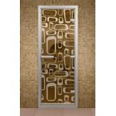 Стеклянная дверь для турецкой бани Aldo ДТМ Трафик 690х1890