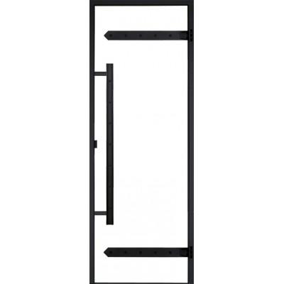 Дверь для турецкой бани Harvia Legend DA71904L тонированный алюминий, стекло прозрачное