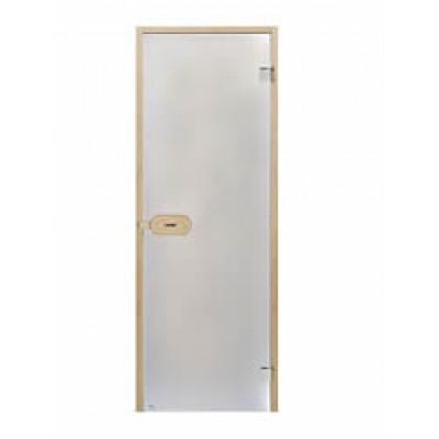 Дверь стеклянная HARVIA D82102L коробка ольха, стекло серое