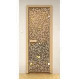 Стеклянная дверь для бани и сауны Aldo ДСФ Морское дно 690x1890