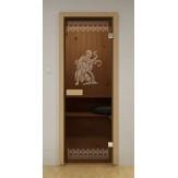 Стеклянная дверь для бани и сауны  Aldo ДСМ Рим 690х1890мм