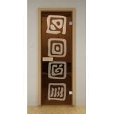 Стеклянная дверь для бани и сауны Aldo ДСМ Лед 790х1990мм