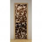 Стеклянная дверь для бани и сауны Aldo ДСМ Петергоф 690х1890мм