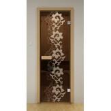 Стеклянная дверь для бани и сауны Aldo ДСМ Камелия 690х1890мм
