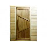 Дверь для сауны и бани дубовая Винтаж 700*1900