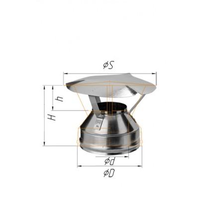 Оголовок Ferrum Ф115*200 из стали AISI 430 0,5 мм+нерж. сталь