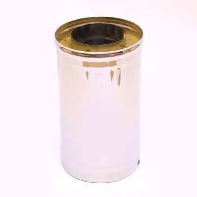 Труба-сэндвич Ferrum 0,5 м AISI 430 0,8 мм +нерж. Ф115*200