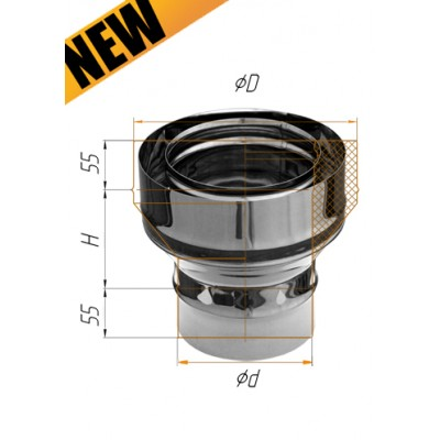 Адаптер стартовый Ferrum нержавеющая сталь AISI 430 0,8 мм ф=115*200