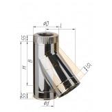 Сэндвич-тройник 135° Ferrum AISI 430 0,8 мм+нерж. Ф150*210