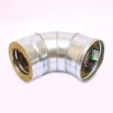 Сэндвич-колено Ferrum 135° AISI 430 0,8 мм +нерж. Ф115*200
