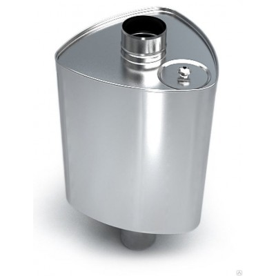 """Бак для бани на трубу Ferrum """"Комфорт"""" 67 л треугольный Ф115 AISI 201"""