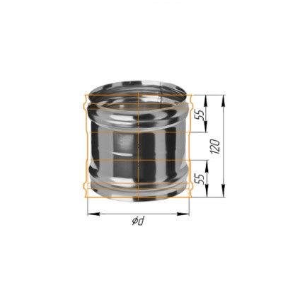Адаптер котла ММ Ferrum нержавеющая сталь AISI 430 0,5 мм ф=115 мм