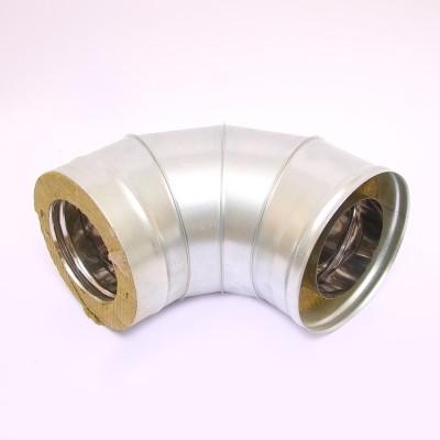 Сэндвич-колено Ferrum 135° AISI 430 0,8 мм +нерж. Ф130*200