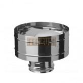 Зонт-К с ветрозащитой Ferrum d=150 мм из стали AISI 430 0,5мм