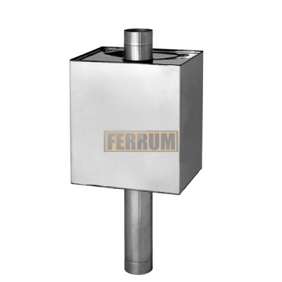 """Бак для бани на трубу Ferrum """"Комфорт"""" 55 л прямоугольный Ф115 AISI 201"""