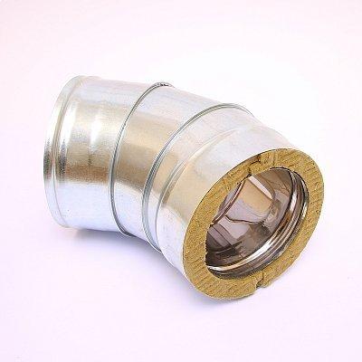 Сэндвич-колено Ferrum 135° AISI 430 0,5 мм +оцин. Ф115*200