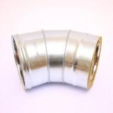 Сэндвич-колено Ferrum 135° AISI 430 0,8 мм +оцин. Ф115*200